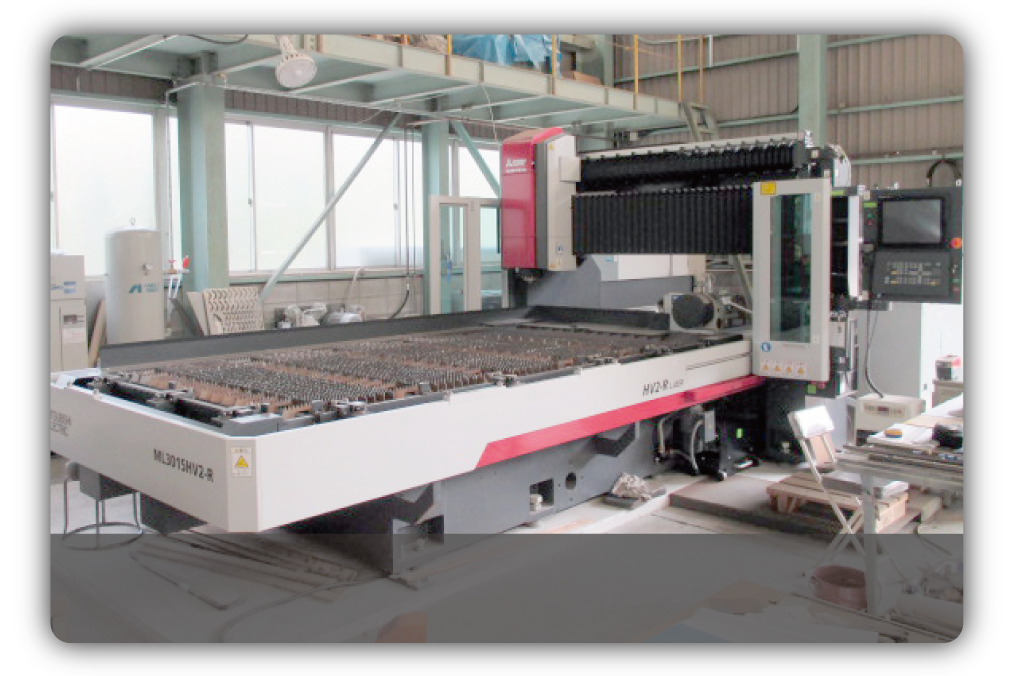 佐伯工業の保有するレーザー加工機