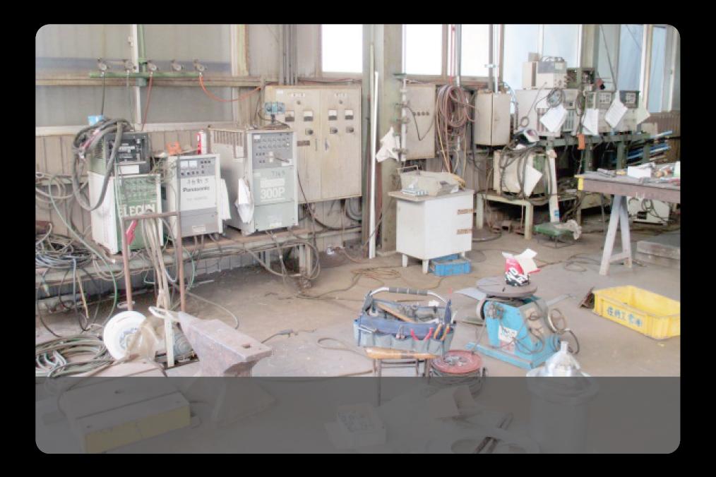 佐伯工業の保有する溶接機