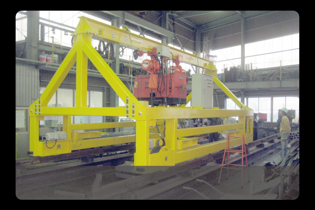 鉄道部品であるラダー枕木運搬車の製造